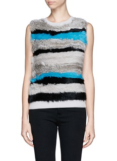 OPENING CEREMONY Rabbit fur wool tank top
