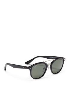 Ray-Ban'RB2183' metal double bridge acetate polarised sunglasses