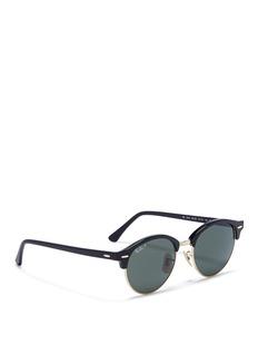 Ray-Ban'Clubround' acetate browline sunglasses