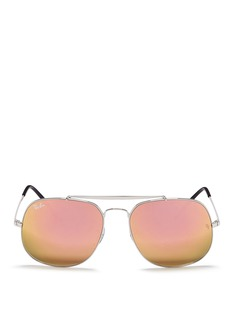 Ray-Ban 'General' metal square aviator mirror sunglasses