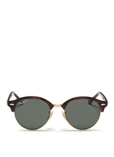 Ray-Ban 'Clubround' tortoiseshell acetate browline sunglasses