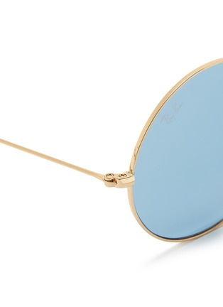 Detail View - Click To Enlarge - Ray-Ban - 'Ja-Jo' metal round sunglasses