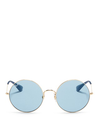 Main View - Click To Enlarge - Ray-Ban - 'Ja-Jo' metal round sunglasses