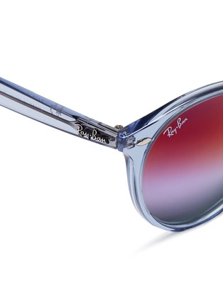 Detail View - Click To Enlarge - Ray-Ban - RB2180 clear plastic gradient mirror sunglasses