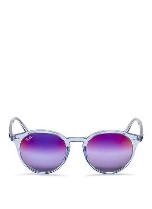 Main View - Click To Enlarge - Ray-Ban - RB2180 clear plastic gradient mirror sunglasses