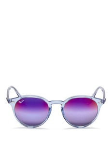 Ray-BanRB2180 clear plastic gradient mirror sunglasses