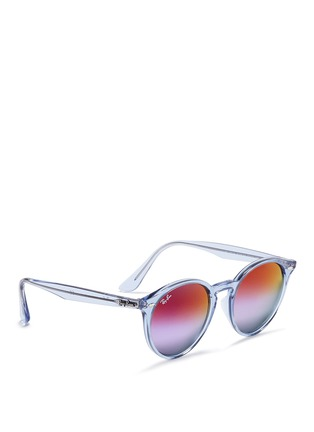 Figure View - Click To Enlarge - Ray-Ban - RB2180 clear plastic gradient mirror sunglasses