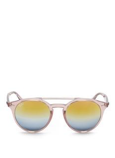 Ray-BanRB4279 clear plastic double bridge gradient mirror sunglasses