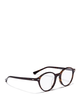 Figure View - Click To Enlarge - Ray-Ban - 'RB7118' tortoiseshell plastic optical glasses