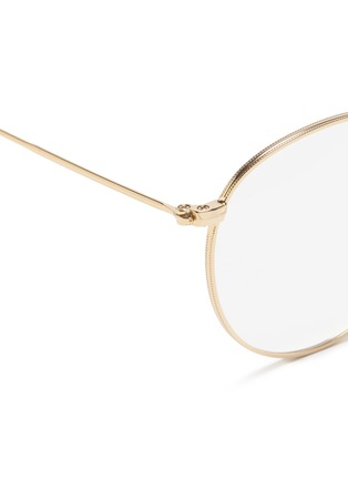 Detail View - Click To Enlarge - Ray-Ban - RX3447 metal round optical glasses