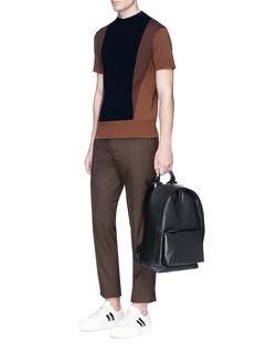 Neil BarrettColourblock slim fit cotton sweater