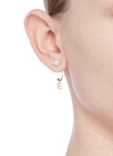 Delfina Delettrez 'ABC Micro Eye Piercing' freshwater pearl 18k yellow gold single earring – E