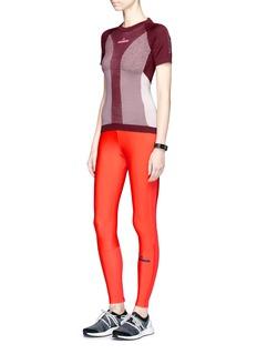 Adidas By Stella Mccartney'Run' mesh insert full length performance leggings
