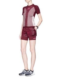 Adidas By Stella Mccartney'Run 2-in-1' layered drawstring running shorts
