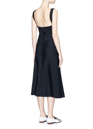 Back View - Click To Enlarge - Victoria Beckham - Crepe flare dress