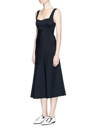 Front View - Click To Enlarge - Victoria Beckham - Crepe flare dress