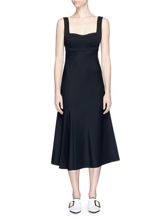 Main View - Click To Enlarge - Victoria Beckham - Crepe flare dress