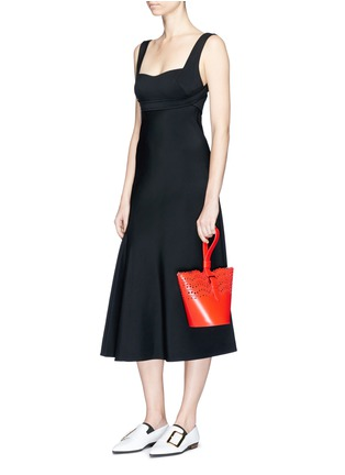 Figure View - Click To Enlarge - Victoria Beckham - Crepe flare dress
