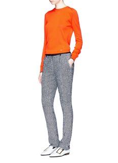 Victoria BeckhamFlecked bouclé tweed slim fit pants