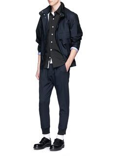 Nanamica'Wind' mesh insert COOLMAX® short sleeve shirt