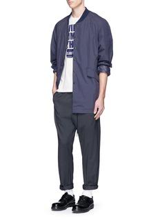NanamicaWhale slogan print loopwheel COOLMAX® T-shirt