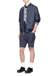 Nanamica'NA-1' stripe reversible blouson jacket