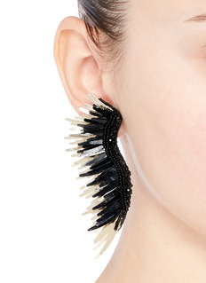 Mignonne Gavigan New York 'Madeline' beaded sequin feather earrings