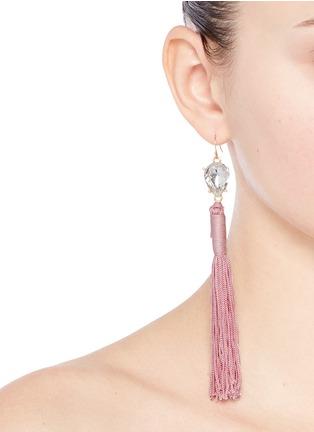 Figure View - Click To Enlarge - Mignonne Gavigan New York - 'Josie' glass crystal tassel earrings