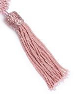 'Lana' beaded pompom tassel earrings