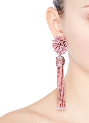Figure View - Click To Enlarge - Mignonne Gavigan - 'Lana' beaded pompom tassel earrings