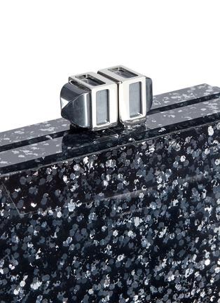 - Judith Leiber - Faceted paillette box minaudière