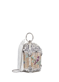 Judith Leiber'Birdcage Solarium' crystal pavé minaudière