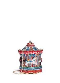 Judith Leiber'Jane's Carousel' crystal pavé minaudière