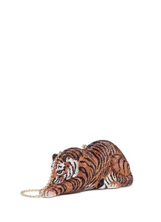 Judith Leiber'Shere Khan Tiger' crystal pavé minaudière