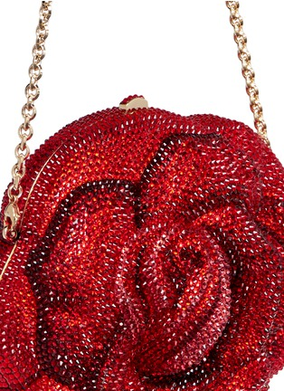- Judith Leiber - 'New Rose' crystal pavé minaudière