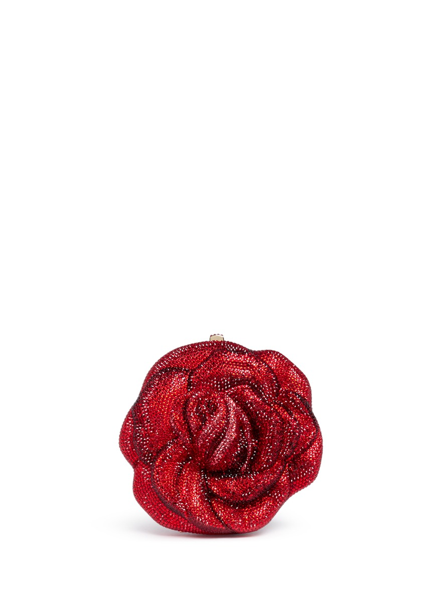 New Rose crystal pavé minaudière by Judith Leiber