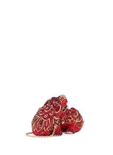 Judith Leiber'Foo Dog Ming' crystal pavé minaudière