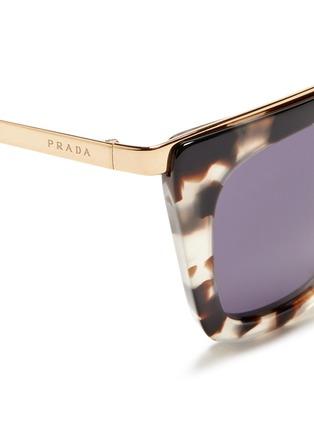 Detail View - Click To Enlarge - Prada - Metal bridge cat eye acetate sunglasses
