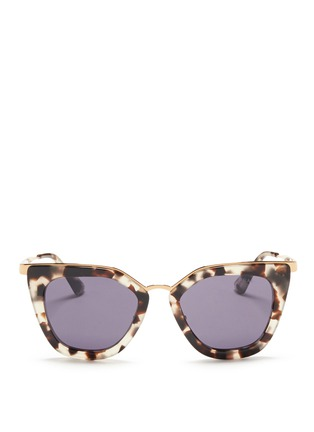 Main View - Click To Enlarge - Prada - Metal bridge cat eye acetate sunglasses