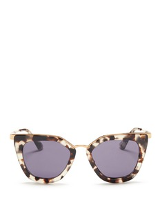 Prada Metal bridge cat eye acetate sunglasses