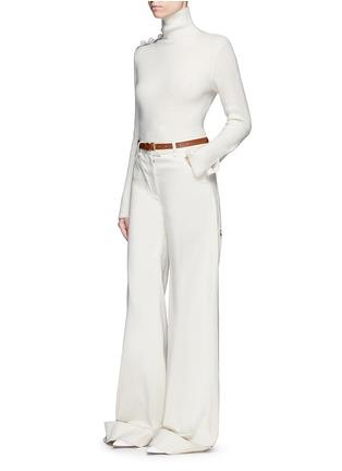 Figure View - Click To Enlarge - CRUSH Collection - x Du Juan button shoulder turtleneck cashmere sweater