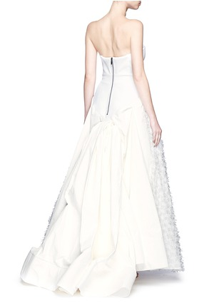 Back View - Click To Enlarge - Maticevski - 'Willow' cutout ruffle bandeau fil coupé strapless gown