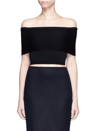 Main View - Click To Enlarge - Rosetta Getty - Off-shoulder cropped rib knit top