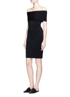 Rosetta GettyOff-shoulder rib knit dress