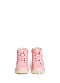 AKID 'Atticus' patent leather toddler boots
