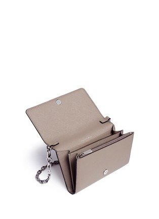 Detail View - Click To Enlarge - Tory Burch - 'Robinson' saffiano leather chain wallet