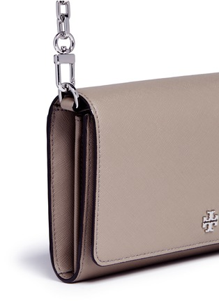- Tory Burch - 'Robinson' saffiano leather chain wallet