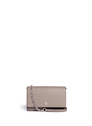 Main View - Click To Enlarge - Tory Burch - 'Robinson' saffiano leather chain wallet