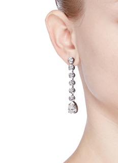 Venessa Arizaga'Eiko' rhinestone asymmetric earrings