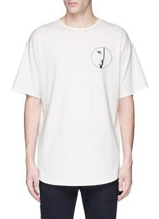 Den Im By Siki Im'VAMPYROS' Bauhaus face print oversized T-shirt